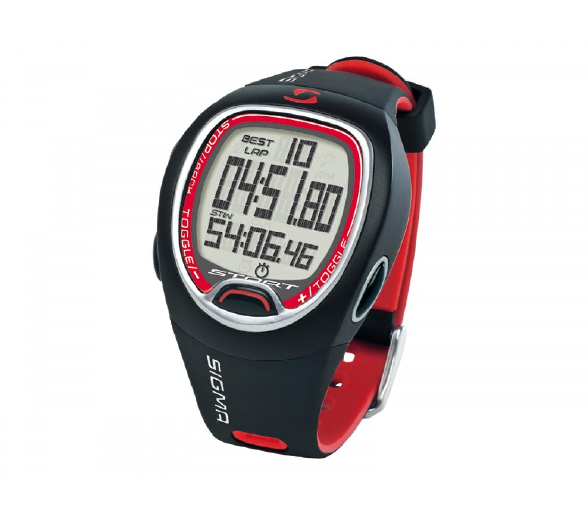 Sportcomputer Sigma Sc6.12 Stopwatch Rood